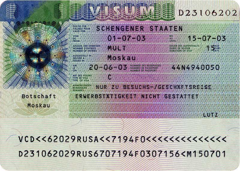 Schengen Vize Örneği