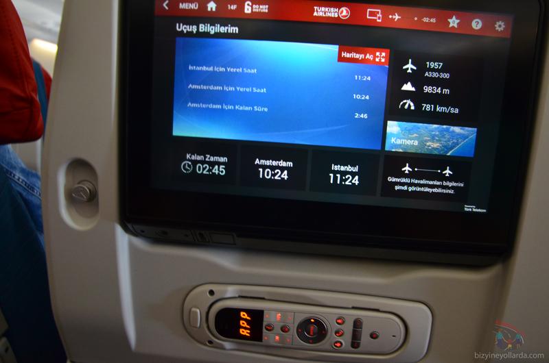 uçak koltuk ekranı altitude bilgisi