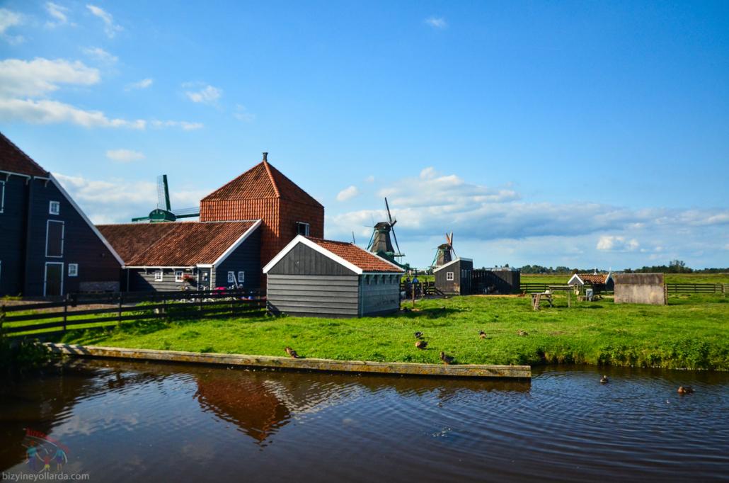Hollanda Yel Değirmeni Evleri