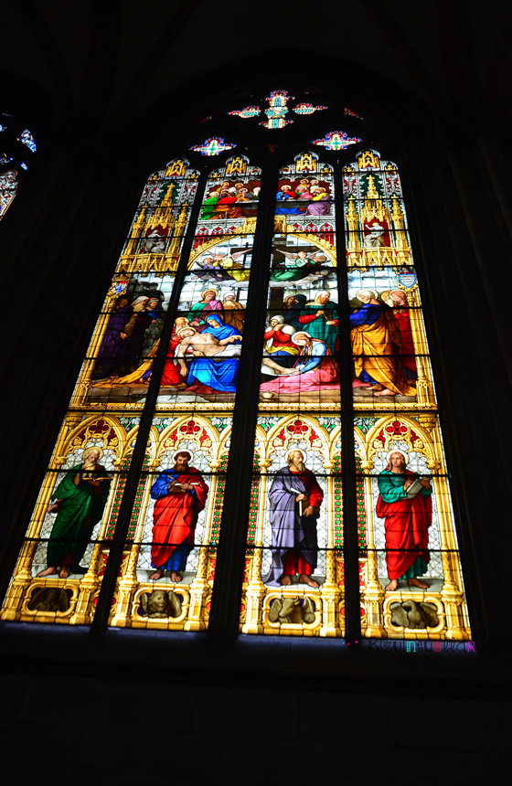 Köln Katedrali Gotik Tarz Pencereler
