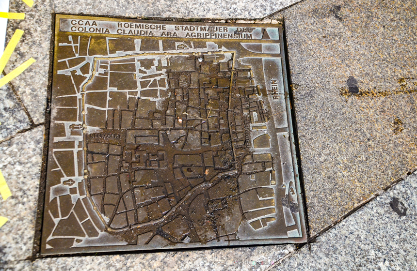 Köln Rögar Kapağındaki Şehir Krokisi