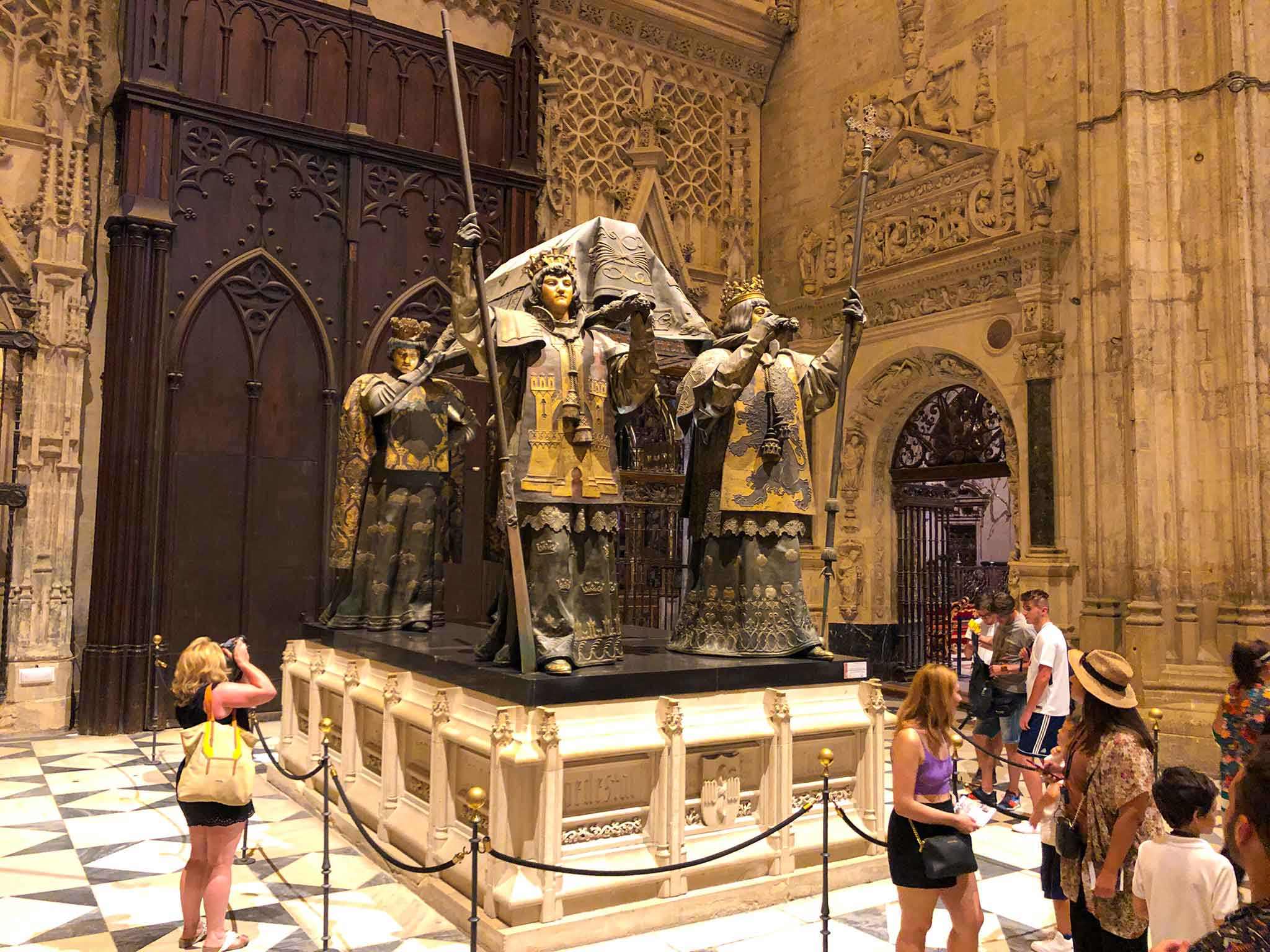 Christopher Columbus Cemetery in Sevilla Cathedral.